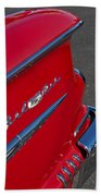 1958 Chevrolet Belair Emblem 2 Beach Towel