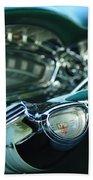 1958 Oldsmobile 98 Steering Wheel Beach Towel