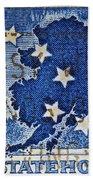 1959 Alaska Statehood Stamp Beach Towel
