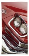 1959 Chrysler 300 Headlight Beach Towel