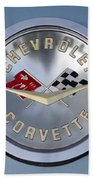 1959 Corvette Emblem Beach Towel