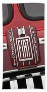 1959 Fiat Tipo 682 Rn-2 Transporter Emblem Beach Towel