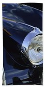 1959 Jaguar S Roadster Headlights Beach Towel