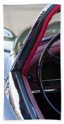 1959 Jaguar S Roadster Steering Wheel 2 Beach Towel