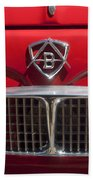 1960 Autobianchi Bianchina Transformabile Coupe Hood Emblem Beach Towel