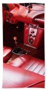 1960 Chevrolet Corvette Interior Beach Towel