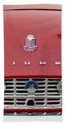 1960 Triumph Tr 3 Grille Emblems Beach Towel