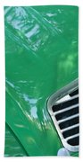 1961 Citroen 2cv Landaulet Hood Emblem Beach Towel