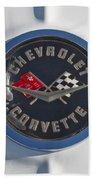 1962 Chevrolet Corvette Emblem 4 Beach Towel