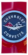 1962 Chevrolet Corvette Emblem Beach Towel