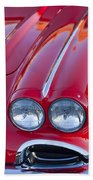 1962 Chevrolet Corvette Headlight Beach Towel