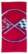 1962 Chevrolet Corvette Hood Emblem 2 Beach Towel