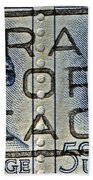 1962 Pray For Peace Stamp Collage Beach Towel