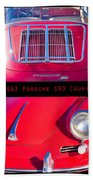 1963 Red Porsche S90 Coupe Poster Beach Towel