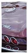 1965 Chevrolet Corvette Tail Light Beach Towel
