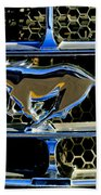 1965 Ford Shelby Mustang Grille Emblem Beach Towel