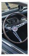 1966 Ford Mustang Cobra Steering Wheel  Beach Towel
