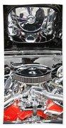 1967 Chevrolet Chevelle Ss Engine 2 Beach Towel