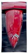 1967 Chevrolet Corvette Hood Emblem 5 Beach Towel