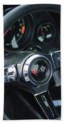 1967 Chevrolet Corvette Steering Wheel Beach Towel