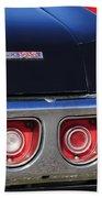 1968 Chevrolet Impala Ss Taillight Emblem Beach Towel