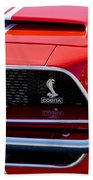 1968 Ford Mustang 427 Ci Fastback Grille Emblem Beach Towel