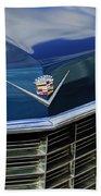 1969 Cadillac Hood Emblem Beach Towel