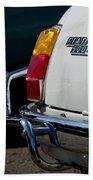 1969 Fiat 500 Taillight Emblem Beach Towel