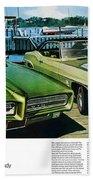 1969 Pontiac Gto And Firebird Beach Towel