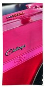 1970 Dodge Challenger Rt 440 Six Pack - Tickled Pink Beach Towel