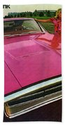 1970 Dodge Charger Tickled Pink Beach Towel