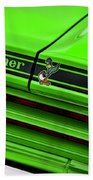 1970 Plymouth Road Runner - Sublime Green Beach Towel