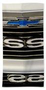 1971 Chevrolet Nova Ss350 Grille Emblem Beach Towel