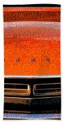 1971 Dodge Challenger - Orange Mopar Typography - Mp002 Beach Towel