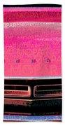 1971 Dodge Challenger - Pink Mopar Typography Beach Towel