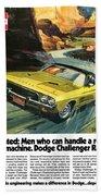 1973 Dodge Challenger Rallye Beach Towel