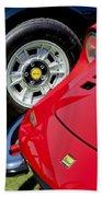 1973 Ferrari 246 Gts Dino Emblem 5 Beach Towel