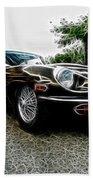 1973 Jaguar Type E Fantasy  Beach Towel