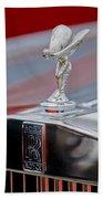 1984 Rolls-royce Silver Spur Hood Ornament Beach Towel