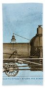 19th Century Locomotive Beach Towel