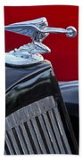 1935 Packard Hood Ornament Beach Towel