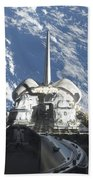 A Partial View Of Space Shuttle Beach Towel