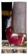 Apple Smashed With Mallet Beach Towel