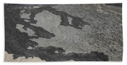 Basaltic Lava Flow From Pit Crater Beach Towel