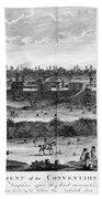 Battle Of Saratoga, 1777 Beach Towel
