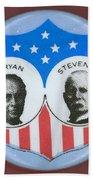 Bryan Campaign Button Beach Towel