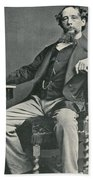 Charles Dickens, English Author Beach Towel by Photo Researchers