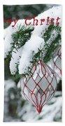 Christmas Card 2194 Beach Towel