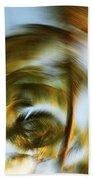 Circular Palm Blur Beach Towel