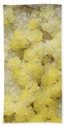 Close-up Of Yellow Salt Crystals Beach Towel